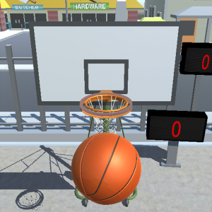 Shooting Hoops basketball game