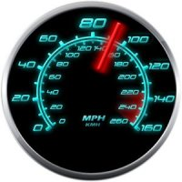 Android app: Glowing GPS Speedometer